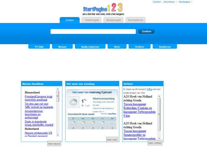 startpagina123